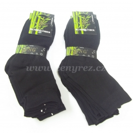 10x čierne bambusové ponožky GNG
