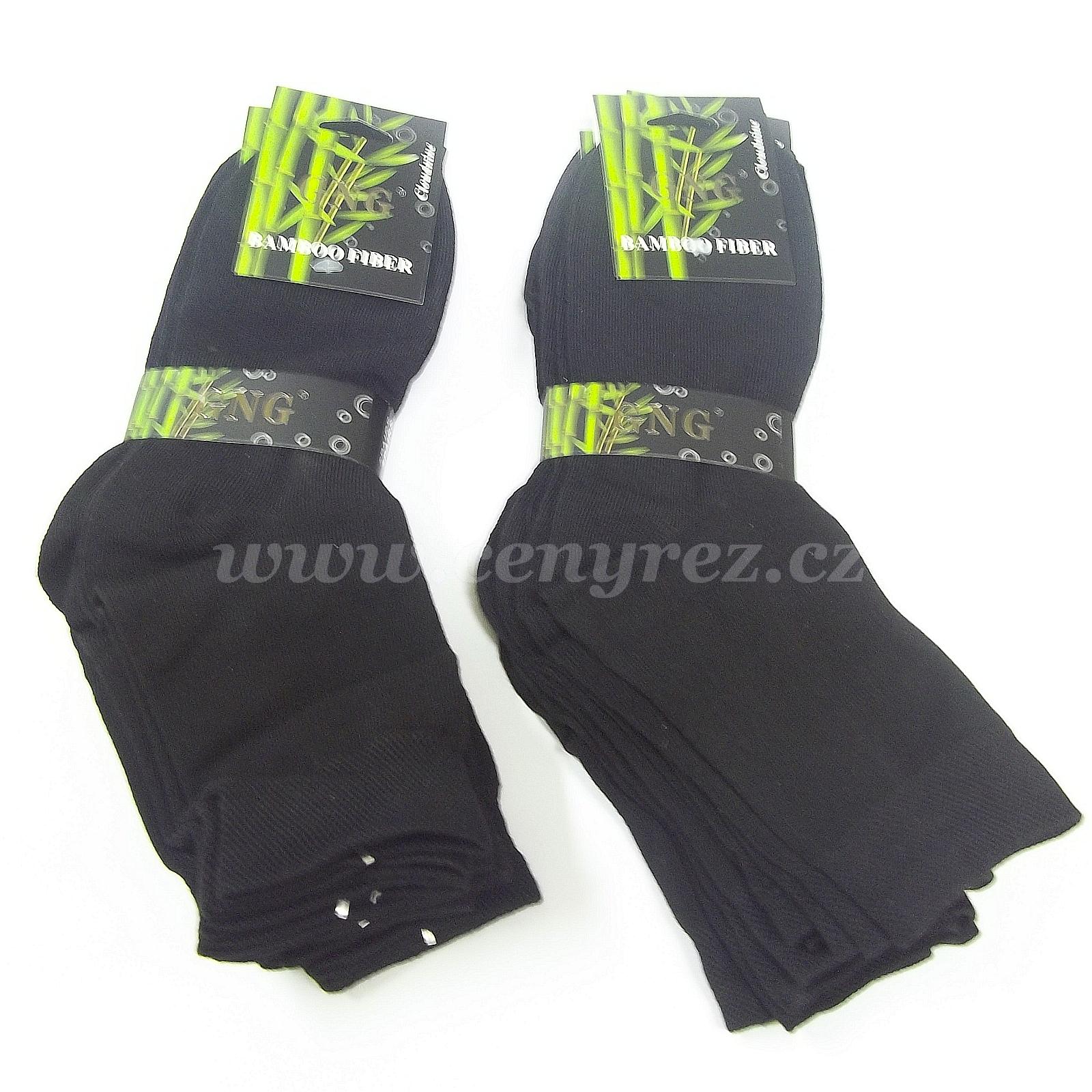 e010f5191d4 10x černé bambusové ponožky GNG - CenyŘez