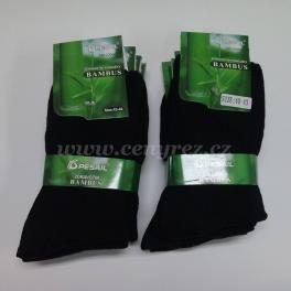 10x černé zdravotní bambusové ponožky
