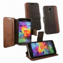 Púzdro OZBO Calico, Samsung Galaxy S5 Mini, PU kůže, hnedé