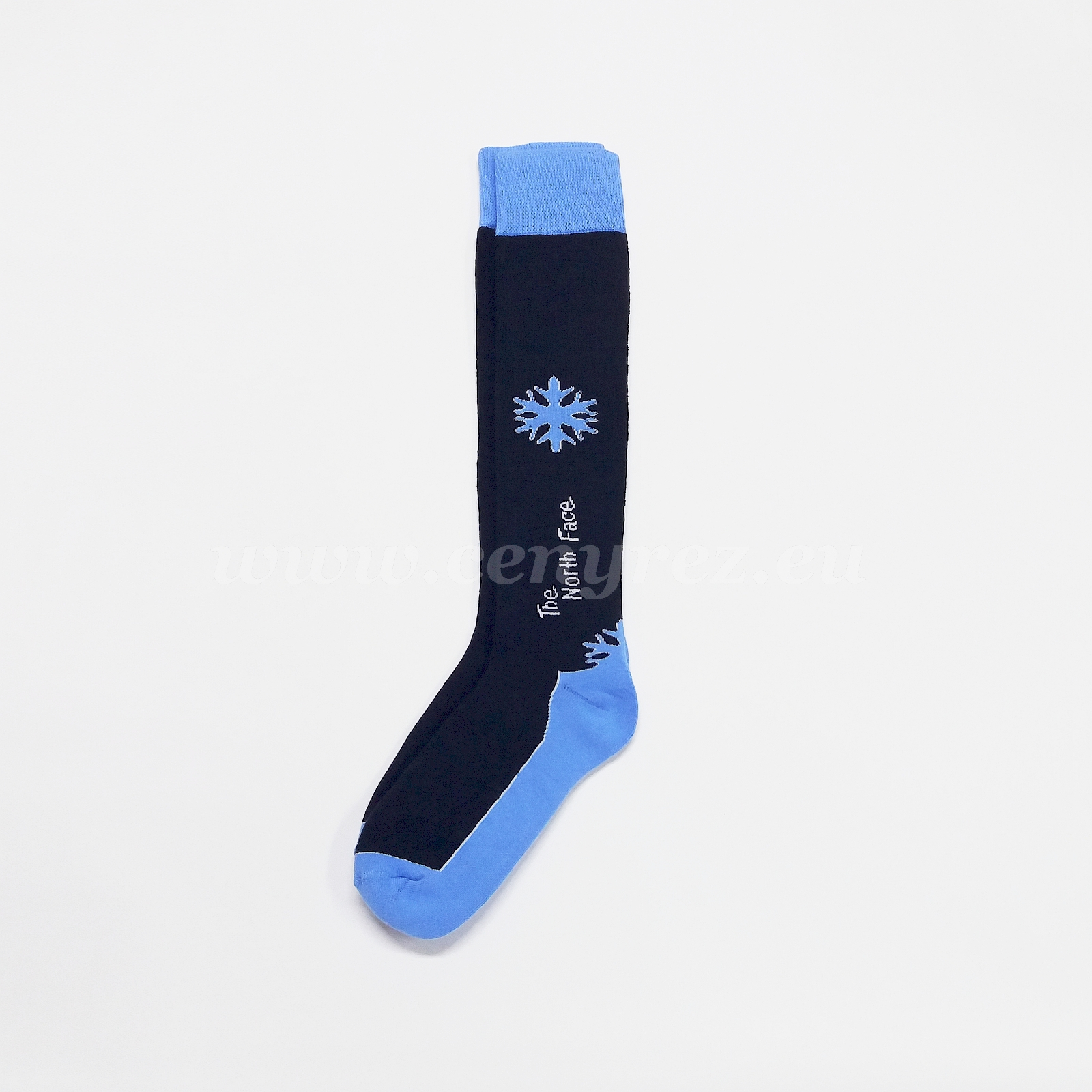 Terry Knee Socks SNOWFLAKE - dark blue