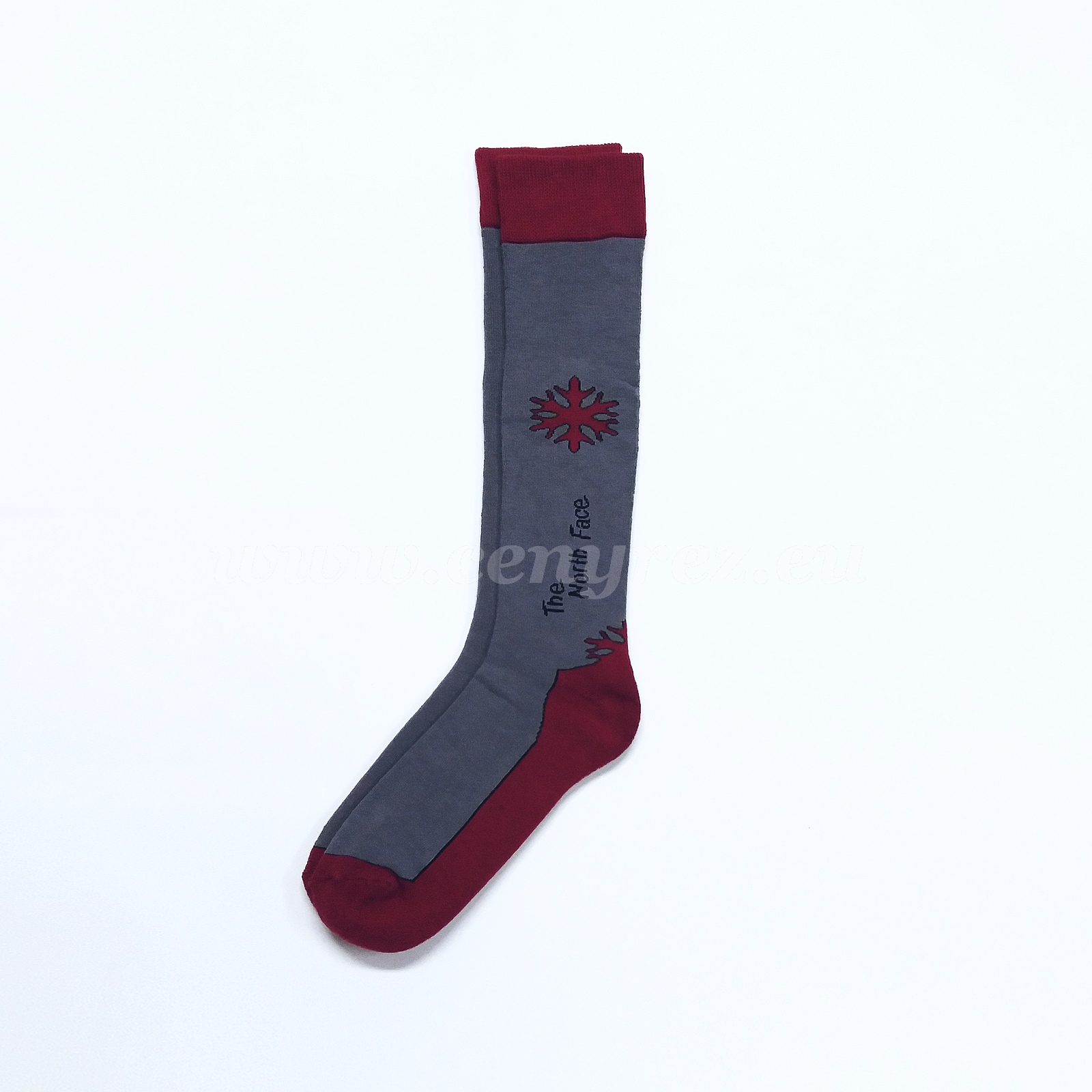 Terry Knee Socks SNOWFLAKE - dark gray
