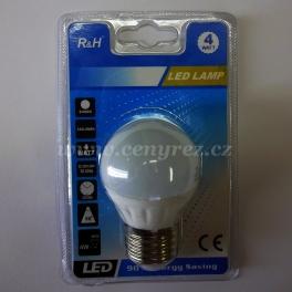LED žiarovka 4W E27 matná, biela