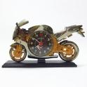 Motorka - hodiny s budíkem