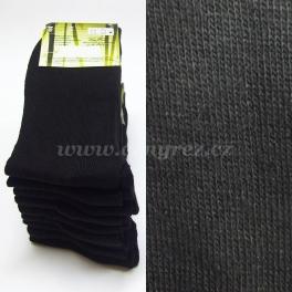 9x čierne bambusové ponožky