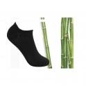 8 Paar Ankle Bambus Socken schwarz