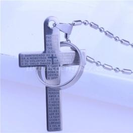 Luxusní přívěsek - křížek s prstýnkem