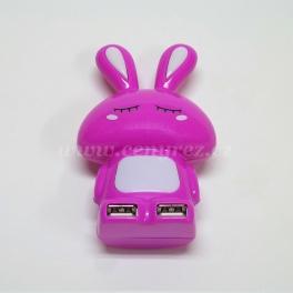 USB Hub - rozbočovač zajačik